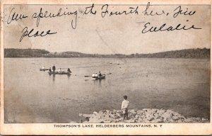 New York Helderberg Mountains Boating On Thompson's Lake 1907