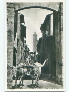 old rppc NICE VIEW San Gimignano In Siena - Tuscany Italy i2739