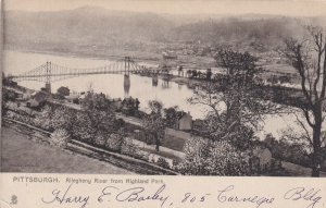 PITTSBURGH, Pennsylvania, 00-10s; Allegheney River From Highland Park, TUCK#6014