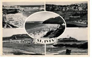 Post Card Cornwall St. Ives 5 views used postmark 1957