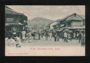 054343 CEYLON Kandy Trincomalee street Vintage PC