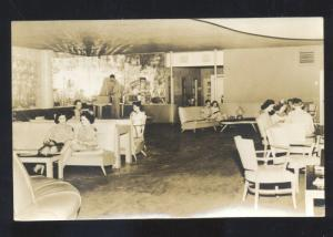RPPC NAPPANEE INDIANA CAFÉ RESTAURANT INTERIOR REAL PHOTO POSTCARD