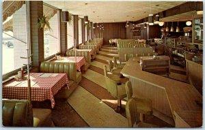 Duluth, Minnesota Postcard FLAMETTE RESTAURANT Interior 2631 London Road c1960s