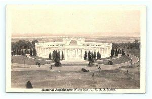 Postcard VA Arlington Memorial Amphitheater from Mast of USS Maine RPPC G10