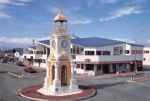 New Zealand Hokitika Clock Tower on the South Island's West Coast Boats