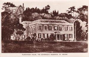 Plantation House St Helena Governors House RPC Postcard
