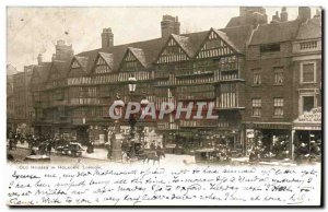 Great Britain Great Britain Postcard Old London in Holborn old houses