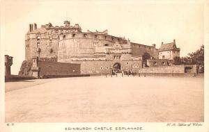 Scotland, UK Old Vintage Antique Post Card Edinburgh Castle Esplanade Unused
