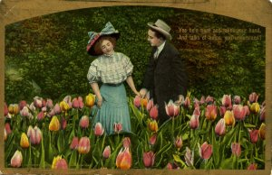Romantic Couple - He talks of tulips