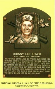 2005 non Utilisé Cooperstown Hall De Fame Induction Plaque Postale Johnny Banc