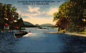 New York Adirondacks Old Forge The Narrows Between Third and Fourth Lakes