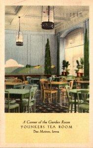Iowa Des Moines Yonkers Tea Room Corner Of The Garden Room 1943