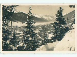 old rppc NICE VIEW Davos - Prattigau-Davos - Graubunden Switzerland i1774
