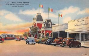 Juarez Mexico Postcard Tarjeta Postal Corner Juarez Avenue Juarez