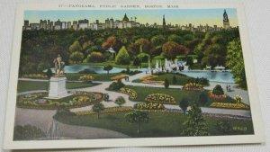 Panorama, Public Garden, Boston, Massachusetts No. 57 Vintage Postcard 1915-1930