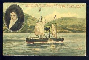 Albany, New York/NY  Postcard, Steamer Robert Fulton's Clermont, Hudson River