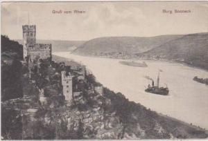 Steamship, Burg Sooneck, Brub vom Rhein, Mainz-Bingen, Rhineland Palatinate, ...