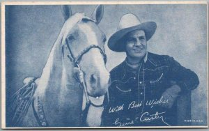 Vintage GENE AUTRY Cowboy Actor Mutoscope Card w/ Champion the Wonder Horse