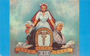Occupation, Nurse Post Card National Geriatrics Society Car of the Aged Membe...