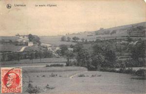 Lierneux Belgium Scenic Birdseye View Antique Postcard K106606