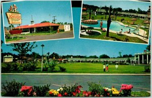 Savannah,, Georgia Postcard HOWARD JOHNSON'S Motor Lodge & Restaurant Roadside
