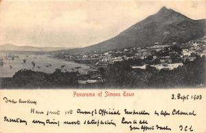 South Africa Simons Town 1903 postcard