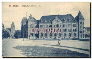 Metz Old Postcard L & # 39hotel positions