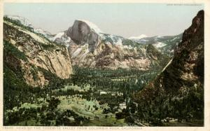 CA - Yosemite National Park. Head of Yosemite Valley from Columbia Rock