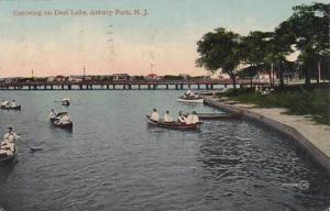 New Jersey Asbury Park Canoeing On Deal Lake 1914
