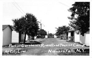 Niagara Falls New York Gornbeins Tourist Camp Real Photo Antique Postcard K48229