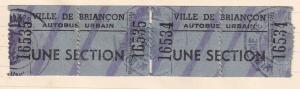 Ville Du Briancon Alpes Cote d'Azur Bus Tickets 2x 1940s Travel French Ephemera