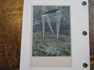 Vintage Postcard Zeppelin LUFTFABRERDANK SCHUTTE LANZ WWI Bombing Ariel Fight