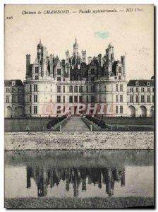 Old Postcard Chambord Castle North Facade