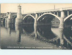1950's BRIDGE SCENE Haverhill Massachusetts MA H9160