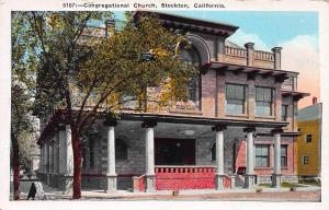 Congregational Church, Stockton, California, early postcard, unused