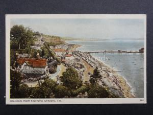 Isle of Wight: Shanklin from Rylstone Gardens - Old Postcard by Dean