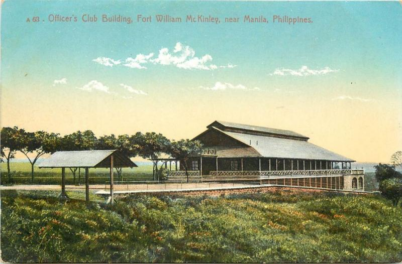 Officer's Club Building, Fort William McJinley, Near Manila Philippines Postcard