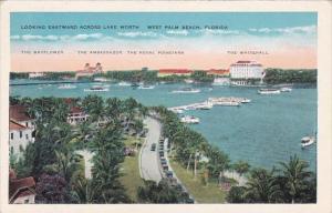 Florida West Palm Beach Looking Eastward Across Lake Worth
