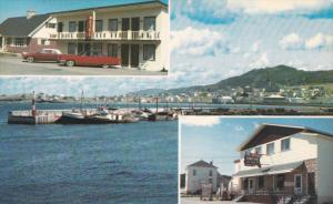 3-Views, Rendez-Vous Motel, FOX RIVER, Province of Quebec, Canada, 40-60s