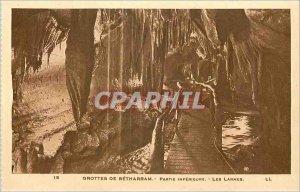 Old Postcard Betharram Caves Part Inferieure Tears