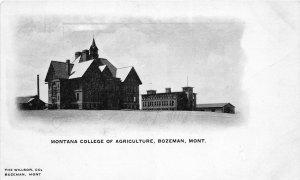 F48/ Bozeman Montana Postcard c1910 Montana College of Agriculture 3