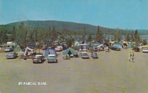 Classic Cars Parked By Campgrounds, Camping at St. Pascal Kam., Belle Provinc...