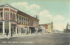 West Side Square Unionville Missouri MO Divided Back