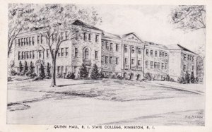 KINGSTON , Rhode Island , 1930s ; Quinn Hall , R.I. State College