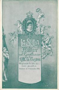 Queen of Italy , LA SCULA , Militare nel Geuetliaco di S.M. La Regina (green)...