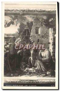 Old Postcard Paris Louvre Museum Lippi the nativity