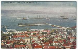 Vintage Postcard View, GIBRALTAR-Entrance to The Harbour, Raphael Tuck