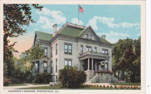 Illinois Springfield Governor's Mansion Curteich