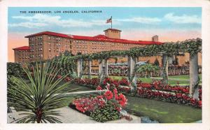 The Ambassador, Los Angeles, California, Early Postcard, Unused