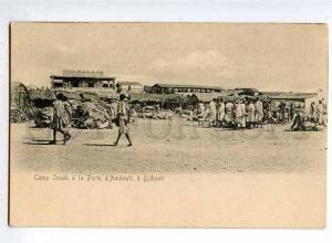 126553 DJIBOUTI Camp Jssah a la Porte d'Ambouli Vintage PC
